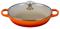 Le Creuset 3.5 Quart Flame Buffet Casserole With Glass Lid