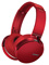 Sony Red Extra Bass Bluetooth Over-Ear Headphones
