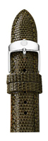 Michele 16mm Deep Olive Lizard Watch Band