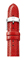 Michele 16mm Red Leather Watch Band