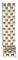 Michele Belmore 18mm Two-Tone 5-link Bracelet Watch Band