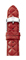 Michele 20mm Red Quilted Leather Watch Band