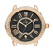Michele Serein 16 Diamond Rose Gold Black Dial Womens Watch Head