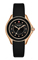 Michele Cape Black Rose Gold Tone Topaz Dial Womens Watch