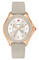 Michele Cape Topaz Rose Gold Taupe Womens Watch