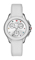 Michele Cape Chrono White Silver Sunray Dial Womens Watch