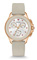 Michele Cape Chrono Rose Gold Taupe Womens Watch