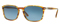 Persol Rectangle Stripped Brown Yellow Mens Sunglasses