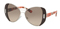Prada Butterfly Silver Brown Womens Sunglasses