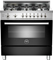 "Bertazzoni 36"" Professional Series Black Gas Range"