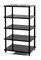 Solidsteel Black S2 Series 5 Shelf Audio Rack
