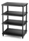 Solidsteel Black S3 Series 4 Shelf Audio Rack