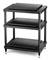 Solidsteel Black S5 Series 3 Shelf Audio Rack