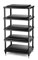 Solidsteel Black S5 Series 5 Shelf Audio Rack