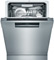 "Bosch Benchmark Series 24"" Stainless Steel Recessed Handle Dishwasher"