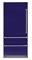 "Viking Professional 7 Series 36"" Cobalt Blue Built-In Bottom-Freezer Refrigerator"