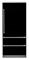 "Viking Professional 7 Series 36"" Black Built-In Bottom-Freezer Refrigerator"