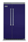 "Viking 48"" Cobalt Blue Built-In Side-By-Side Refrigerator"