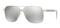 Versace Steel Silver Square Mens Sunglasses
