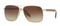 Versace Steel Pale Gold Square Mens Sunglasses