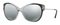 Versace Transparent Grey Gradient Black Cat Eye Womens Sunglasses