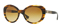Versace Oval Striped Havana Womens Sunglasses