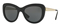 Versace Black Cat Eye Womens Sunglasses