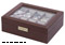 Orbita Roma Ten Chocolate Leather Display Case Storage Box