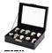 Orbita Roma Ten Black Leather Display Case Storage Box