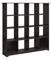 Bush Furniture Espresso Oak Cabot 16 Cube Bookcase