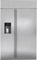 "Monogram 48"" Stainless Steel Built-In Side-By-Side Refrigerator"