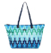 Tumi Just In Case Blue Chevron Travel Bag