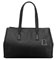 Tumi Sinclair Black Ana Large Double Zip Carry All Handbag