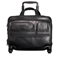Tumi Alpha 2 Black  Leather 4 Wheeled Delux  Brief With Laptop Case