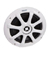"Kicker 6"" White 4 Ohm KM6200 Marine Coaxial Speakers"