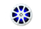 "Kicker 6"" White LED 4 Ohm KM6200 Marine Coaxial Speakers"