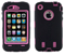 AT&T OtterBox Defender Black And Pink Interactive Case