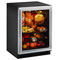 "U-Line 24"" Stainless Steel Glass Door Under Counter Refrigerator"