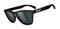 Oakley Mens Frogskins Polished Black Sunglasses With Grey Lenses