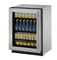 "U-Line 24""  Stainless Steel Glass Door Compact Refrigerator"