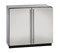 "U-Line 36"" Stainless Steel Double Door Compact Refrigerator"