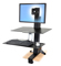 Ergotron WorkFit-S Sit-Stand Workstation For Mid-Size Monitor With Work Surface