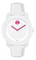 Movado Bold White & Pink Dial Unisex Watch