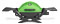 Weber Q 1200 Green Portable Liquid Propane Gas Grill