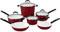Cuisinart Elements Red 10-Piece Cookware Set