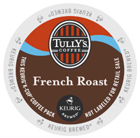 Keurig Tullys French Roast Extra Bold Coffee 18 Count K-Cup Pods