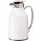 Oggi Elegance White 34oz Carafe With Press Button Top