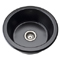 Rohl Allia Fireclay Matte Black Round Single Bowl Prep Sink