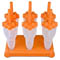 Tovolo Orange Rocket Pop Set of Six Molds