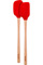 Tovolo Candy Apple Red Flex-Core Wood Handled Mini Spatula & Spoonula